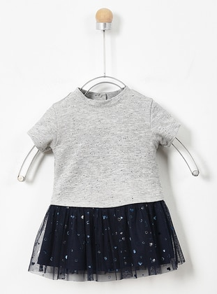 Crew neck - - Gray - Baby Dress