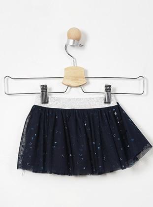 Cotton - Navy Blue - Baby Skirt