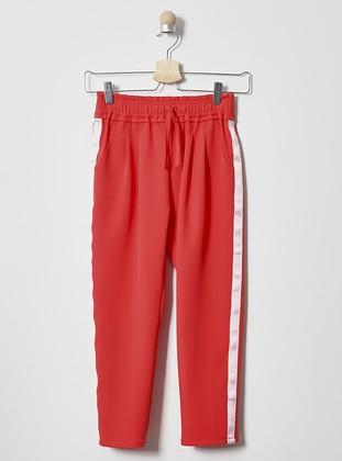 Red - Girls` Pants
