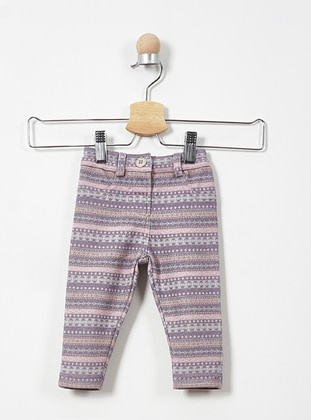 Multi - Cotton - Viscose - Unlined - Lilac - Baby Pants