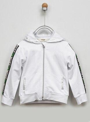- White - Girls` Sweatshirt
