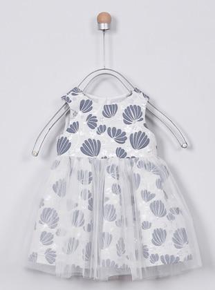 Multi - Crew neck -  - Unlined - Indigo - Baby Dress