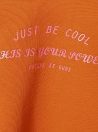 Crew neck - - Orange - Girls` Sweatshirt
