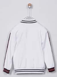 Crew neck - - Viscose - White - Girls` Sweatshirt
