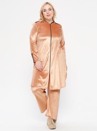 Gold - Unlined - Plus Size Suit