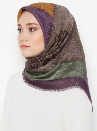 Lilac - Printed - Viscose - Scarf