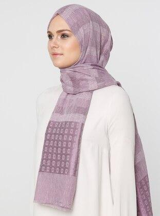 Lilac - Printed - Viscose - Shawl