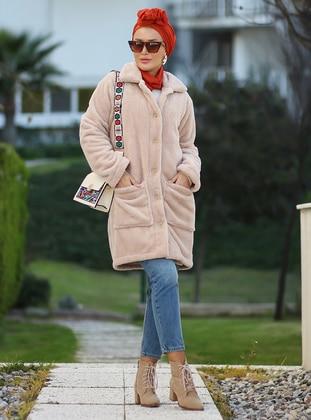 Camel - Unlined - Acrylic -  - Puffer Jackets - Por La Cara