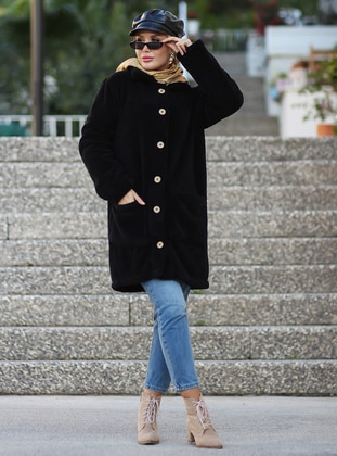 Black - Unlined - Acrylic -  - Puffer Jackets