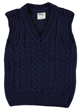 Navy Blue - Baby Sweaters -  Baby