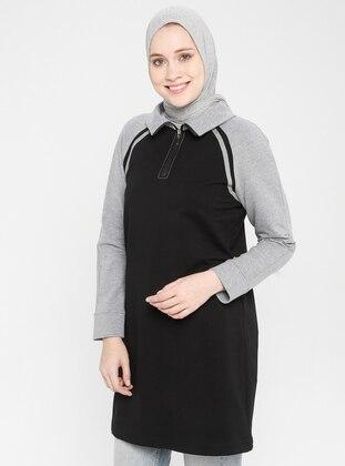 Black - Polo neck -  - Tunic -  By Tuğba