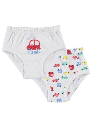 White - Baby Underwear Set - Kujju