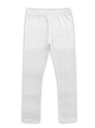- Unlined - White - Ecru - Girls` Leggings