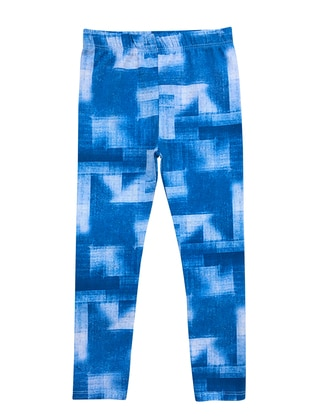 - Unlined - Blue - Girls` Leggings
