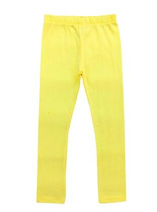 - Unlined - Yellow - Girls` Leggings
