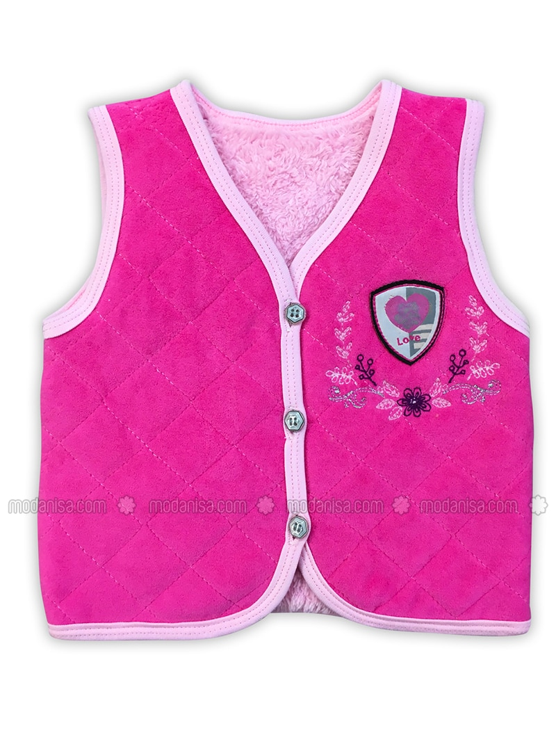 V neck Collar - - Unlined - Pink - Baby Suit
