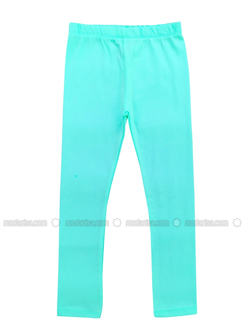 - Unlined - Mint - Girls` Leggings