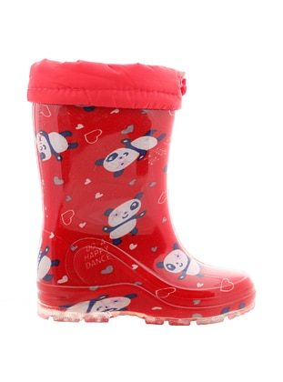 Red - Boys` Boots