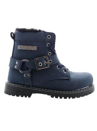 Navy Blue - Boys` Boots