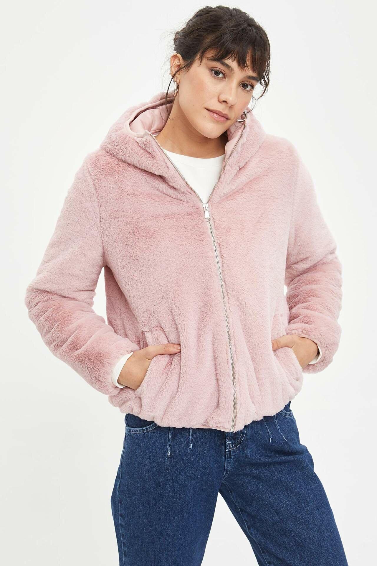 Puffer Jackets DeFacto Pink