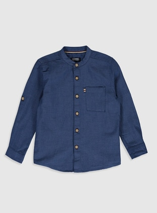 Navy Blue - Boys` Shirt - LC WAIKIKI
