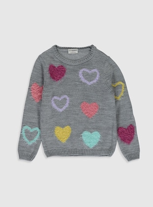 Gray - Girls` Pullovers - LC WAIKIKI