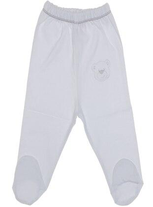 White - Baby Bottomwear - Kujju