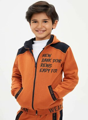 Orange - Boys` Cardigan