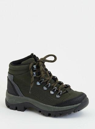 Khaki - Boys` Boots - DeFacto