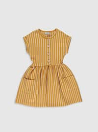 Brown - Girls` Dress