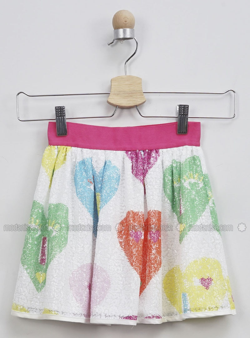 Multi - Fuchsia - Multi - Girls` Skirt