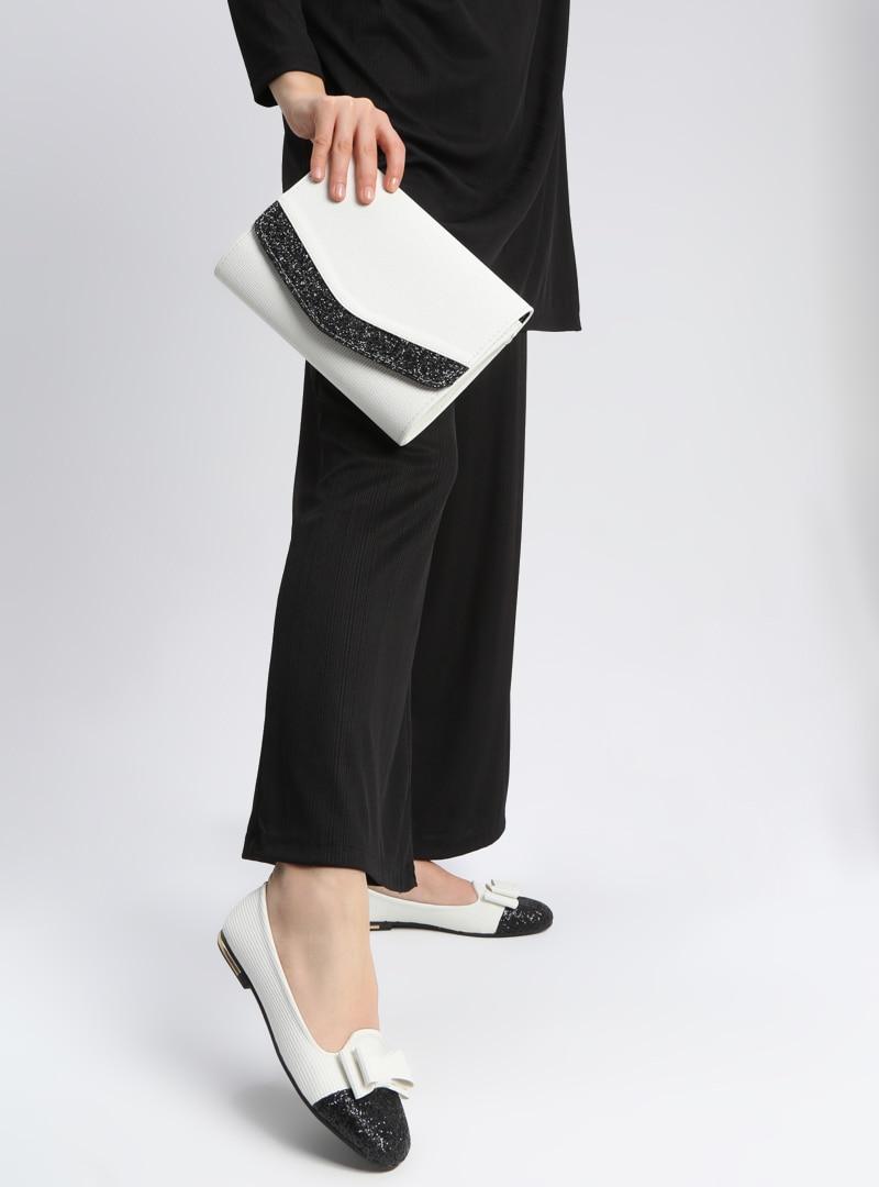 Tesettür Ayakkabı & Çanta Takım Art Shoes Beyaz Kadın 36