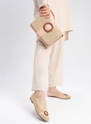 Beige - Flat - Casual - Suit