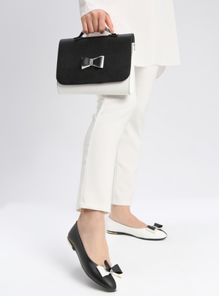 White - Black - Flat - Casual - Suit