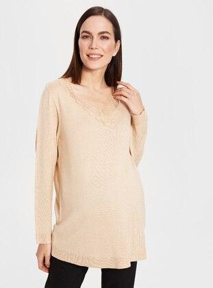 Beige - Maternity Vest
