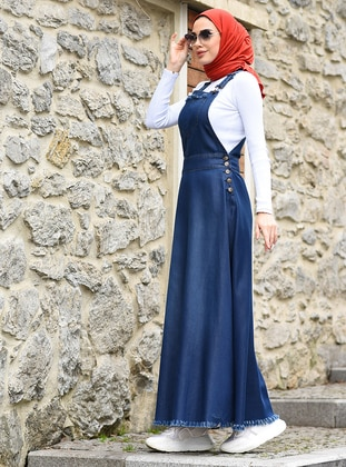 Blue - Unlined - Denim - Modal -  - Skirt