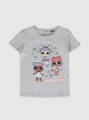 Gray - Girls` T-Shirt - LC WAIKIKI