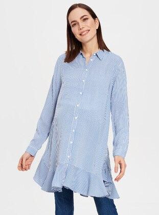 Blue - Maternity Blouses Shirts