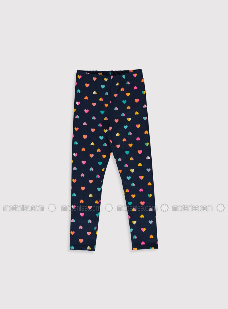 Navy Blue - Girls` Leggings