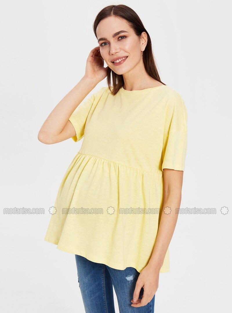 Yellow - Maternity Blouses Shirts