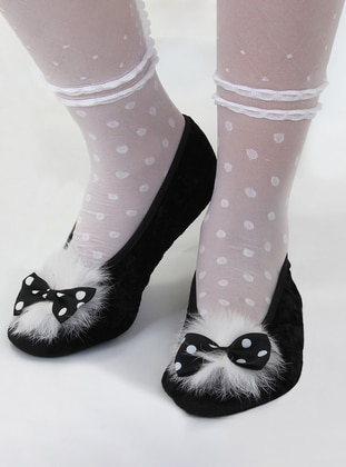 Flat - Black - Home Shoes