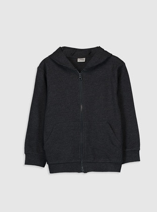 Anthracite - Boys` Sweatshirt - LC WAIKIKI