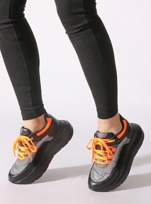 Black - Orange - Sport - Sports Shoes