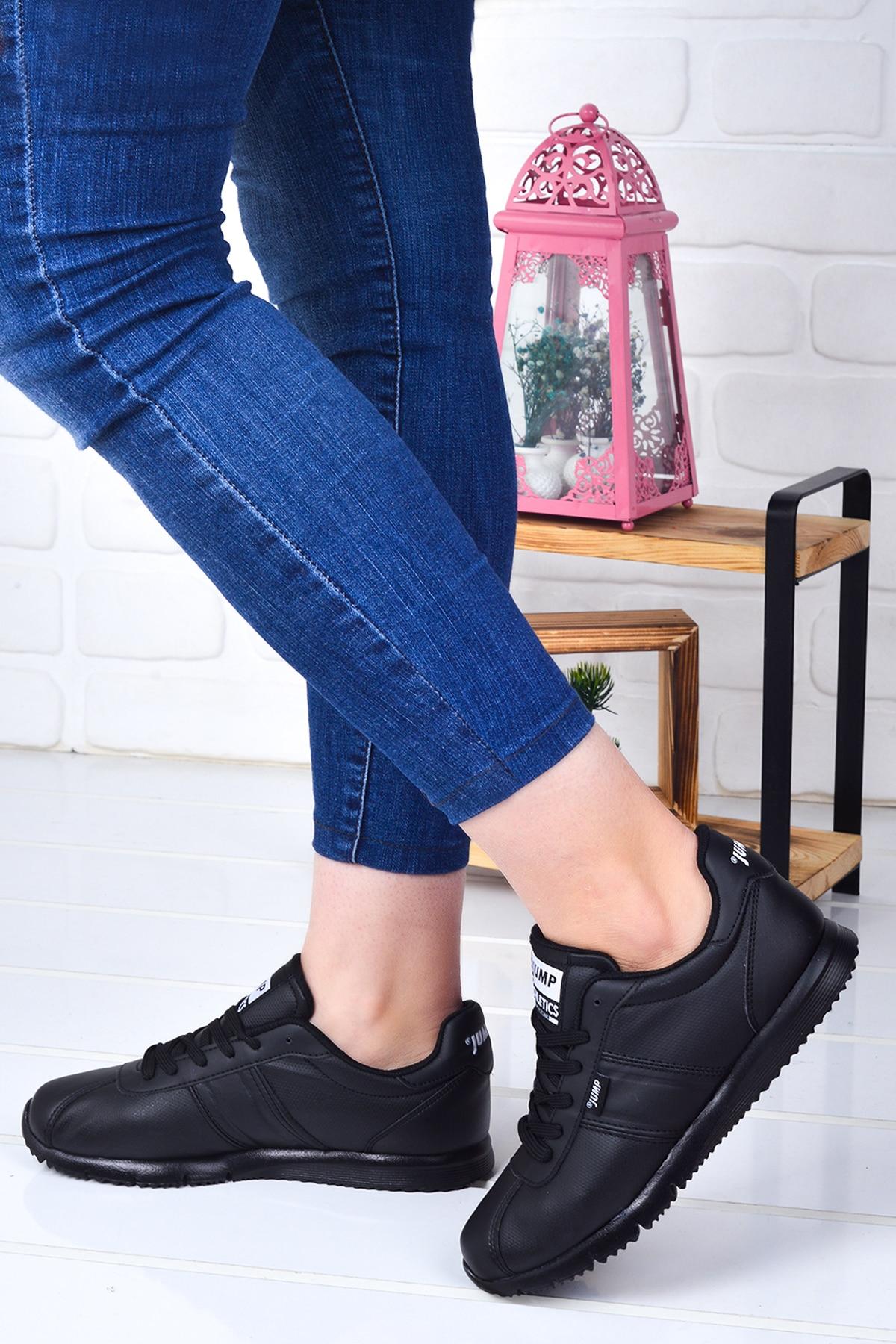 Tesettür Spor Ayakkabı Jump Siyah Kadın 38