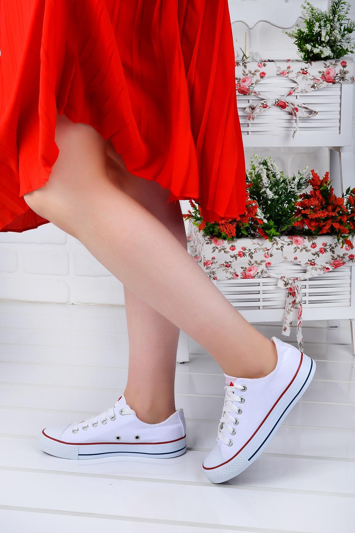 Tesettür Spor Ayakkabı Muya Beyaz Kadın 39