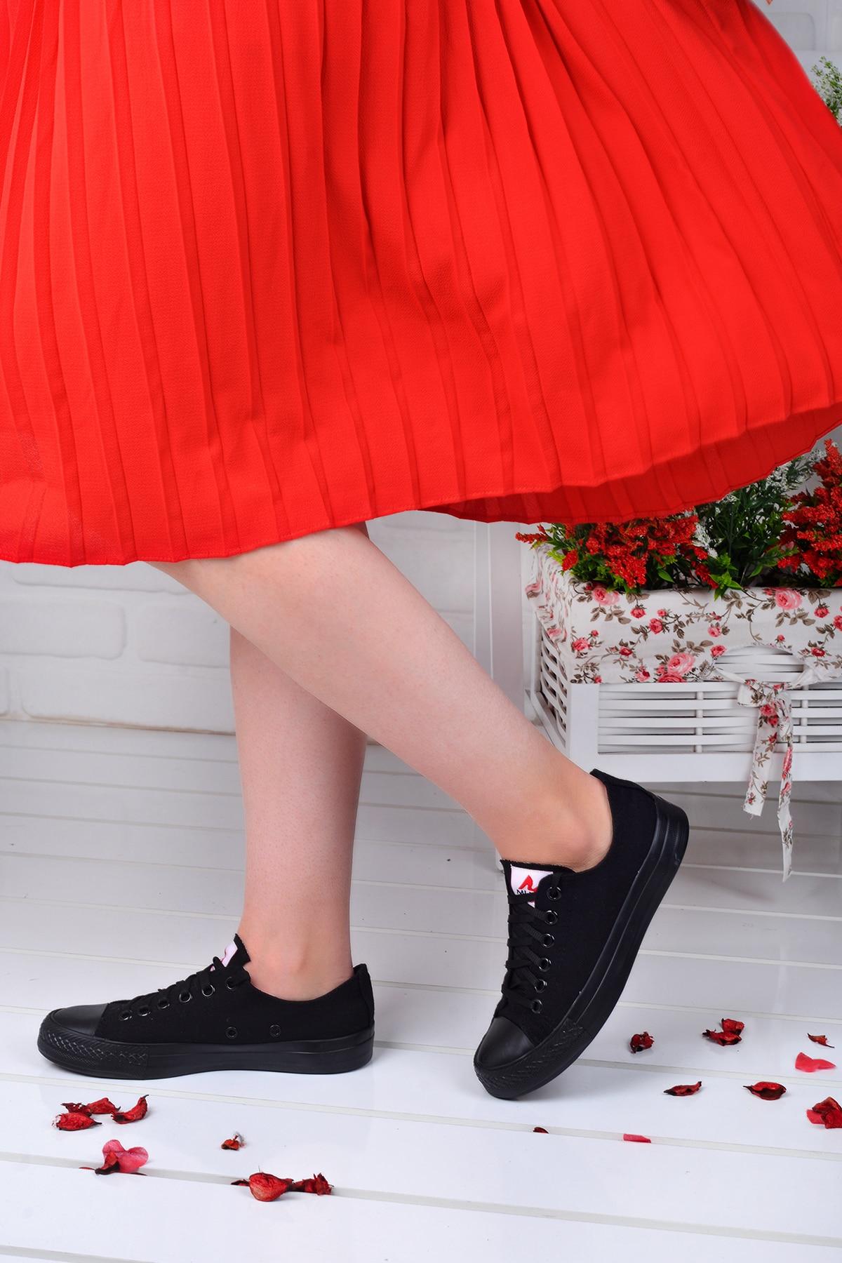 Tesettür Spor Ayakkabı Muya Siyah Kadın 39