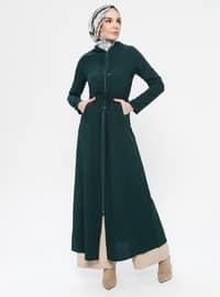 Zümrüt Yeşili - Astarsız kumaş - Palto ve Kaban