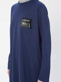 Indigo - Crew neck - Unlined - Dress