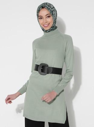 Green Almond - Polo neck - Acrylic -  - Tunic