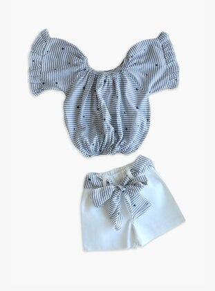 Stripe - Multi -  - White - Multi - Baby Suit
